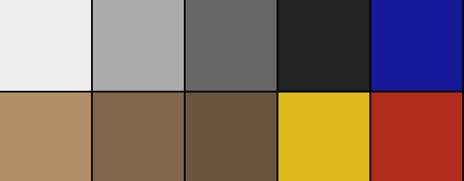 Color scheme of Contemporary interior design