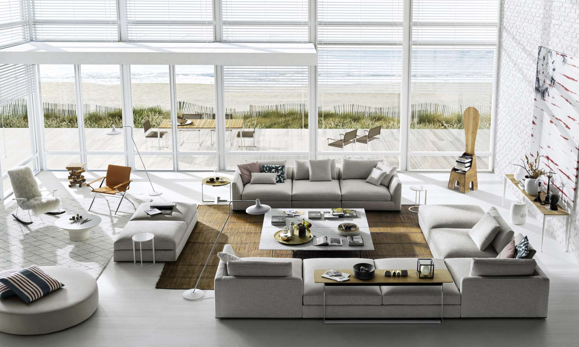 Neutral materials in Contemporary design.