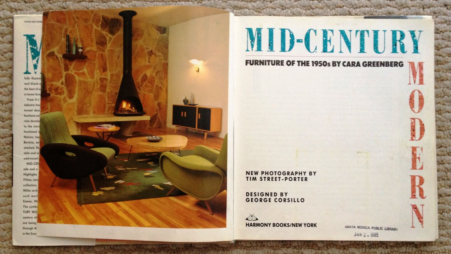 Image of the first book to use the term Mid-Century Modern