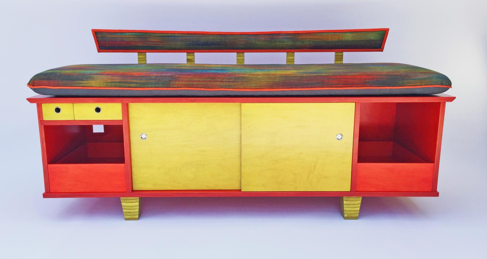Fanciful furniture contributes to the Retro style living space