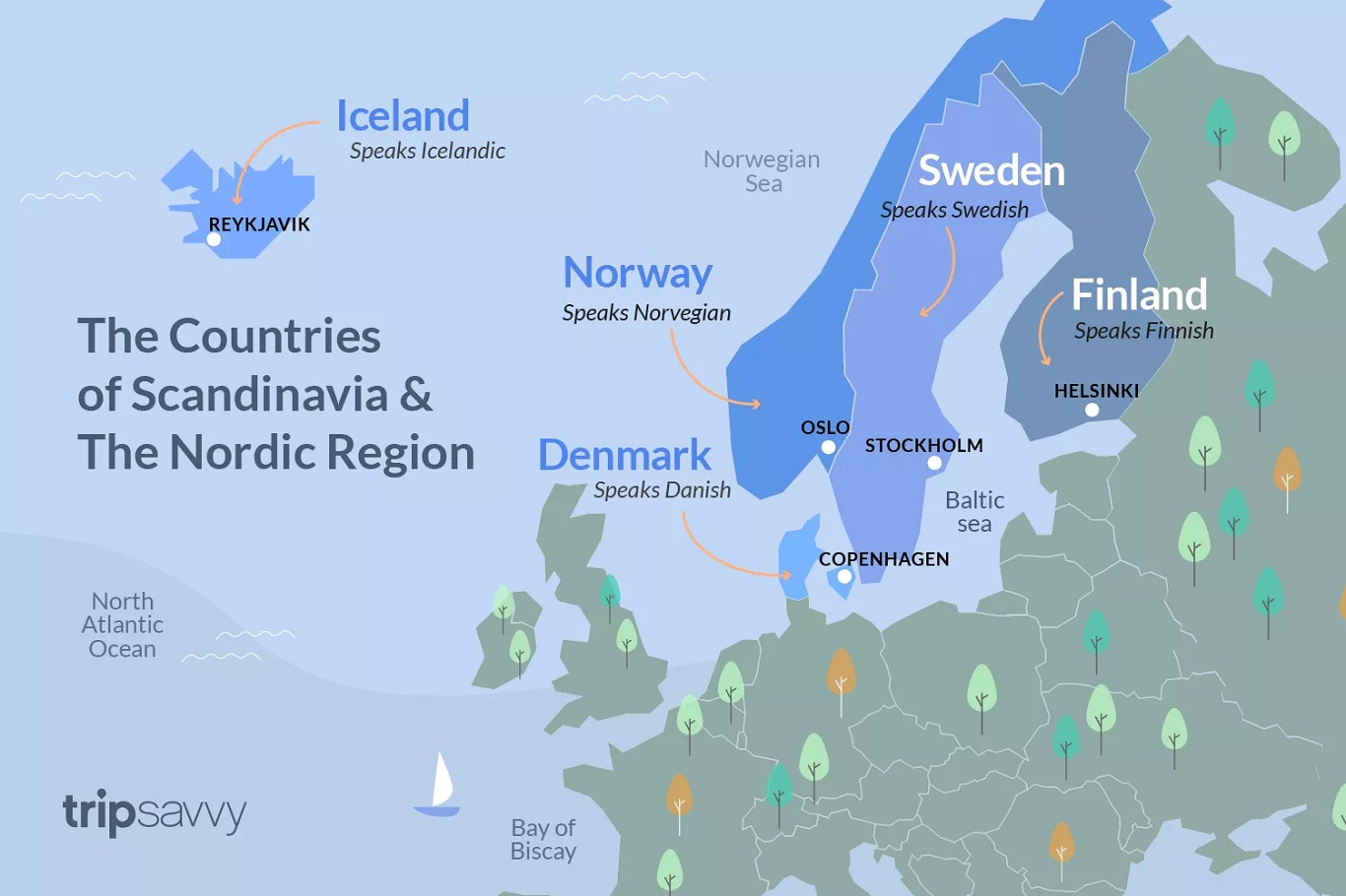 The five Nordic countries of Denmark, Finland, Iceland, Norway and Sweden