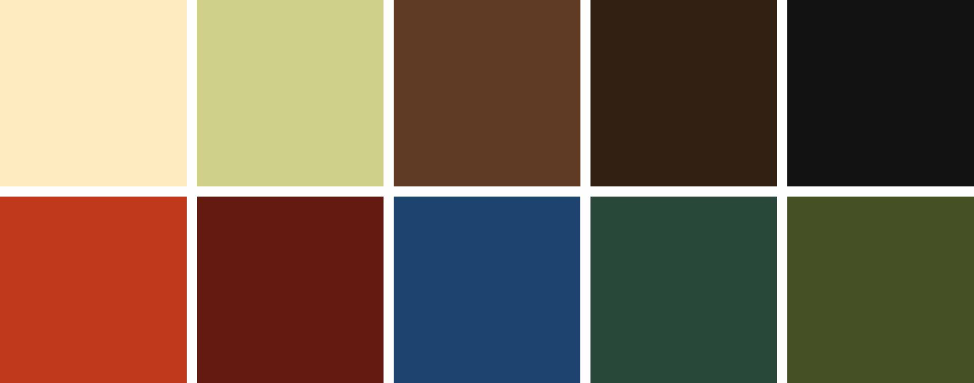 Deep rich color palette having  royal tones of red, burgundy and blue and pastels of mint and yellow.